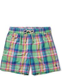Мятные шорты для плавания в шотландскую клетку от Polo Ralph Lauren