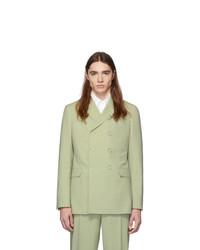 Мятный двубортный пиджак