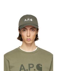 Мужская оливковая бейсболка от A.P.C.
