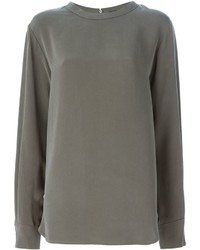 Оливковая блузка с длинным рукавом от Joseph