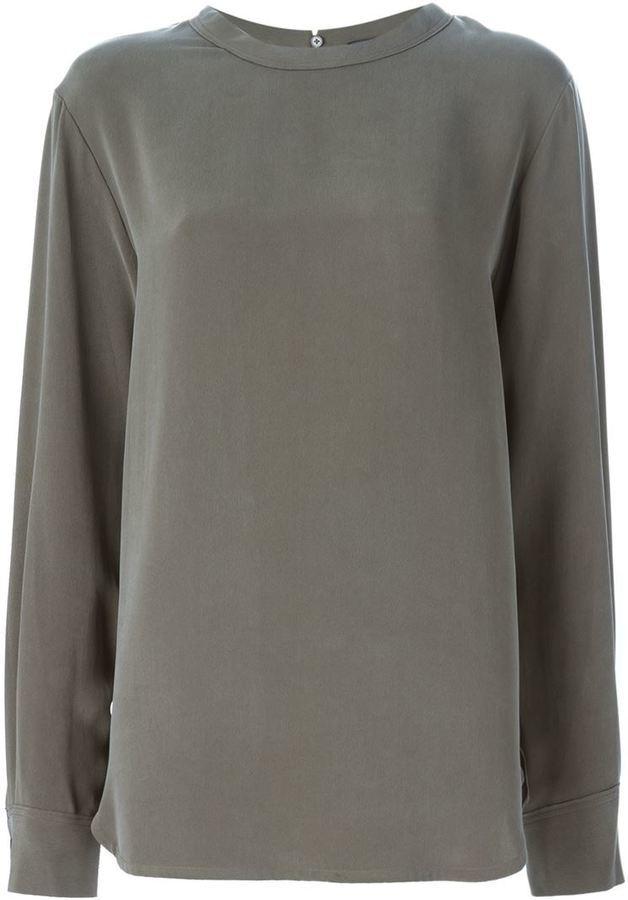 d7071114904 ... Оливковая блузка с длинным рукавом от Joseph