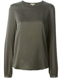 Оливковая блузка с длинным рукавом от P.A.R.O.S.H.