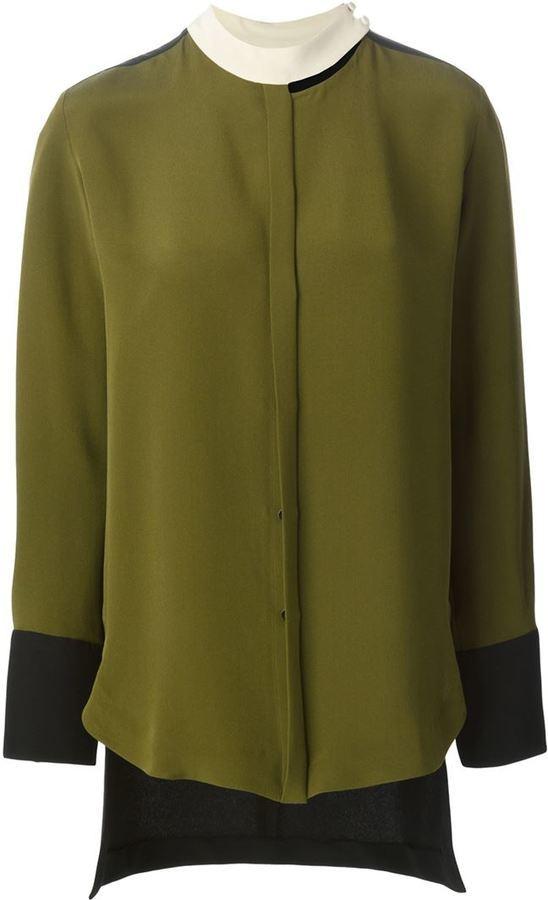 f686b408a37 ... Оливковая блузка с длинным рукавом от Petar Petrov