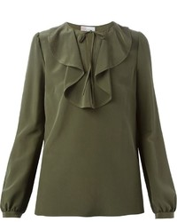 Оливковая блузка с длинным рукавом от RED Valentino