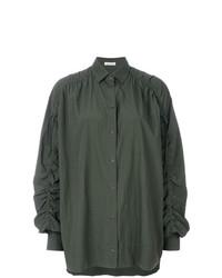 Оливковая блузка с длинным рукавом от Tomas Maier