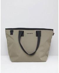 Мужская оливковая большая сумка из плотной ткани от Carhartt WIP