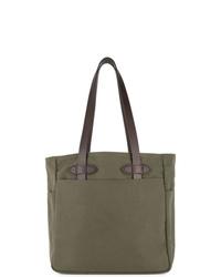 Мужская оливковая большая сумка из плотной ткани от Filson