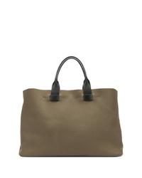 Мужская оливковая большая сумка из плотной ткани от Troubadour