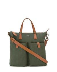 Мужская оливковая большая сумка из плотной ткани от Zanellato