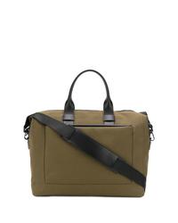 Оливковая дорожная сумка из плотной ткани