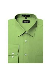 Оливковая классическая рубашка
