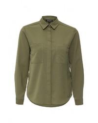 Женская оливковая классическая рубашка от Topshop