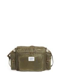 Оливковая кожаная сумка почтальона