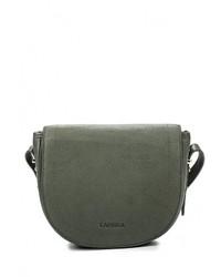 Женская оливковая кожаная сумка через плечо от Labbra