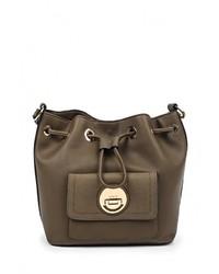 Женская оливковая кожаная сумка через плечо от Topshop