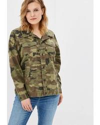 Оливковая куртка в стиле милитари с камуфляжным принтом от Junarose