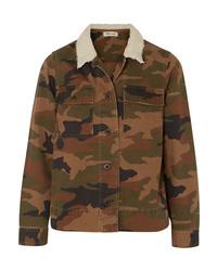 Оливковая куртка в стиле милитари с камуфляжным принтом от Madewell