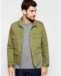 Мужская оливковая куртка в стиле милитари от Asos