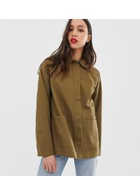 Оливковая куртка в стиле милитари от Asos Tall
