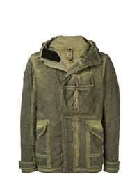 Мужская оливковая куртка в стиле милитари от CP Company