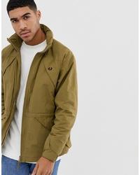 Мужская оливковая куртка в стиле милитари от Fred Perry