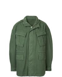Мужская оливковая куртка в стиле милитари от Juun.J