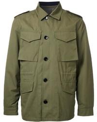 Мужская оливковая куртка в стиле милитари от Kent & Curwen