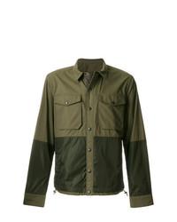 Мужская оливковая куртка в стиле милитари от Moncler