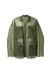 Мужская оливковая куртка в стиле милитари от Oamc