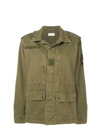 Мужская оливковая куртка в стиле милитари от Saint Laurent
