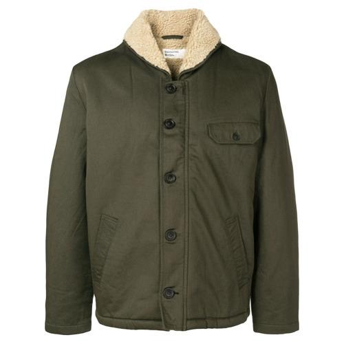 Мужская оливковая куртка в стиле милитари от Universal Works