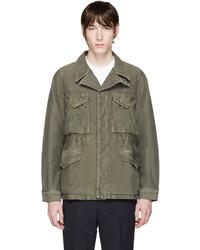 Мужская оливковая куртка в стиле милитари от VISVIM