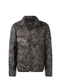 Мужская оливковая куртка-пуховик с камуфляжным принтом от Michael Kors
