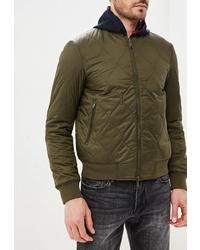 Мужская оливковая куртка-пуховик от Emporio Armani
