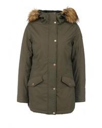Женская оливковая куртка-пуховик от Luhta