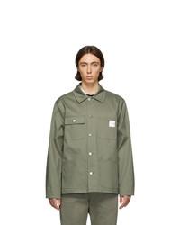 Мужская оливковая куртка-рубашка от A.P.C.