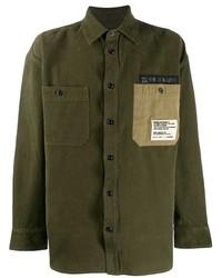 Мужская оливковая куртка-рубашка от Diesel