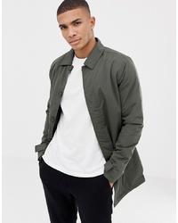 Мужская оливковая куртка-рубашка от French Connection