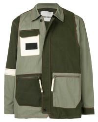 Мужская оливковая куртка-рубашка от Henrik Vibskov