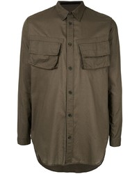 Мужская оливковая куртка-рубашка от Julius