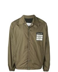 Мужская оливковая куртка-рубашка от Maison Margiela