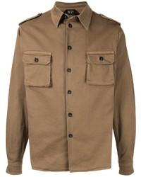 Мужская оливковая куртка-рубашка от N°21