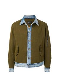 Мужская оливковая куртка-рубашка от Overcome
