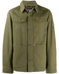 Мужская оливковая куртка-рубашка от Tommy Jeans