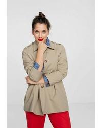 Женская оливковая куртка-рубашка от Violeta BY MANGO