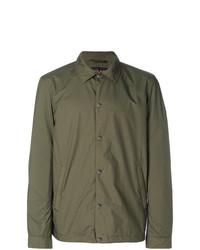 Мужская оливковая куртка-рубашка от Woolrich