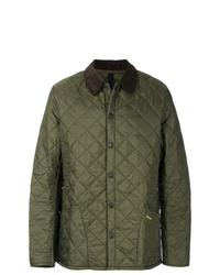 Оливковая куртка с воротником и на пуговицах от Barbour