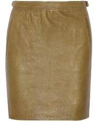 Оливковая мини-юбка