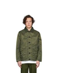 Мужская оливковая нейлоновая куртка-рубашка от Goodfight