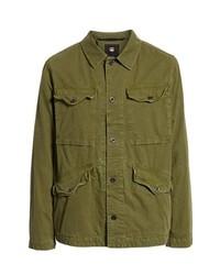Оливковая полевая куртка